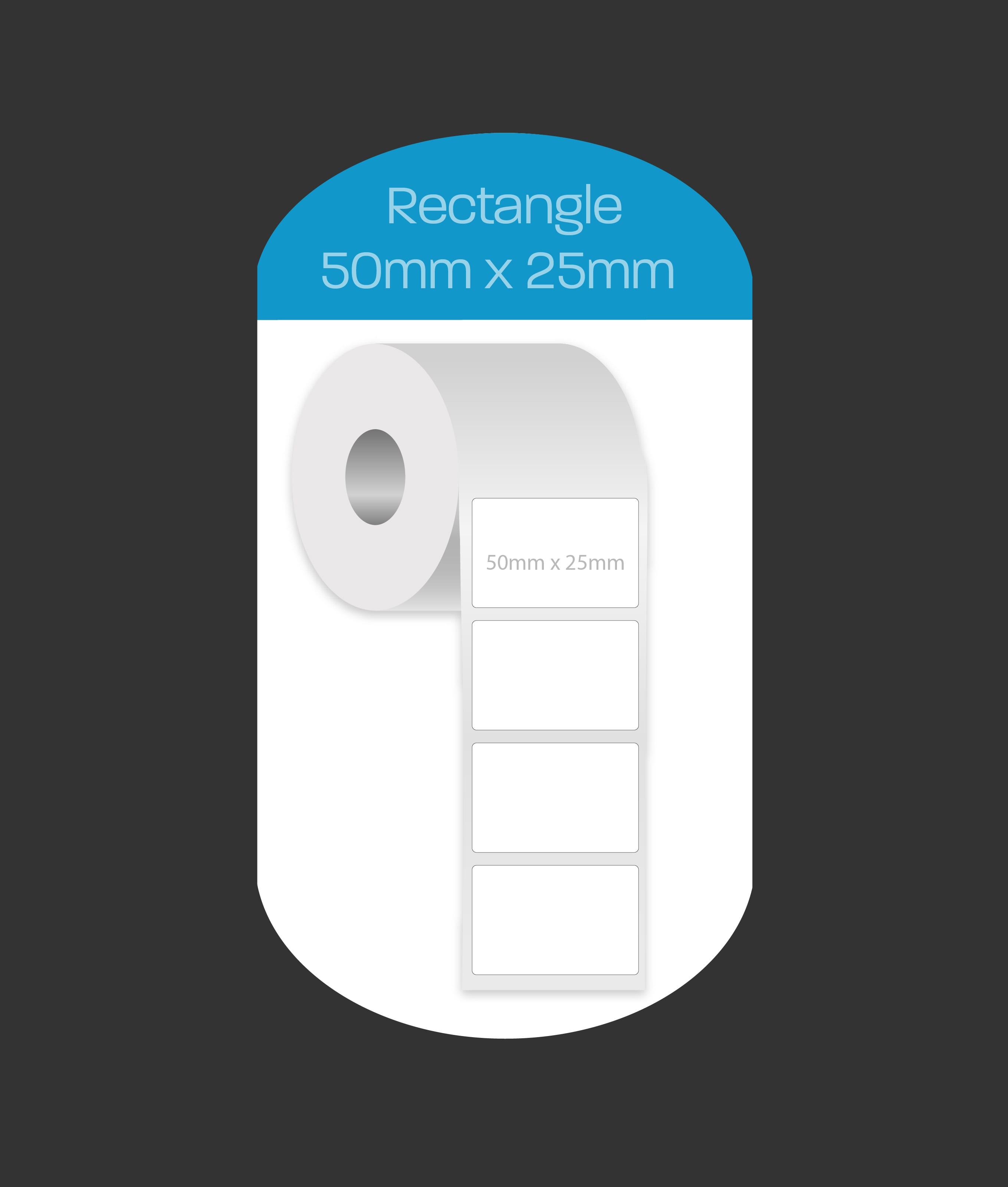 Rectangle 50x25mm labels