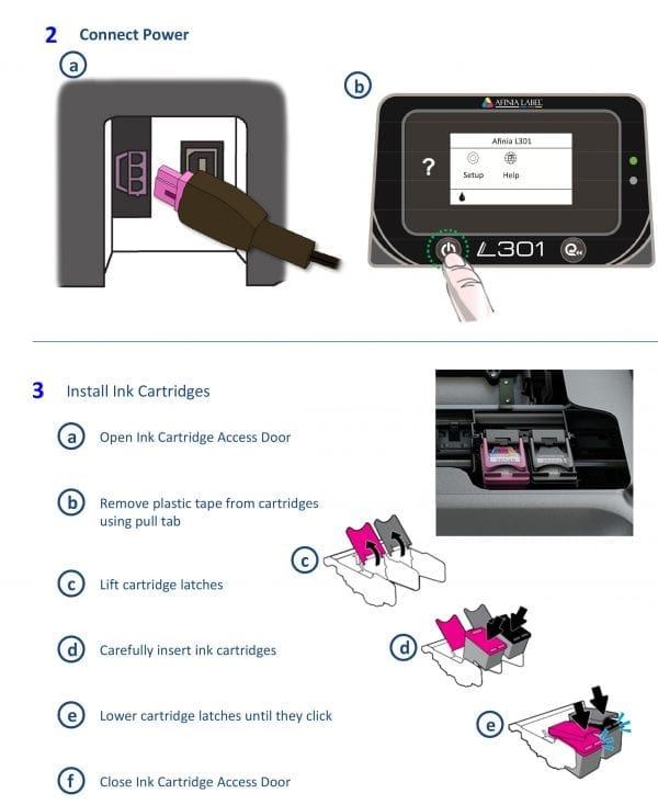 Install Ink Cartridges