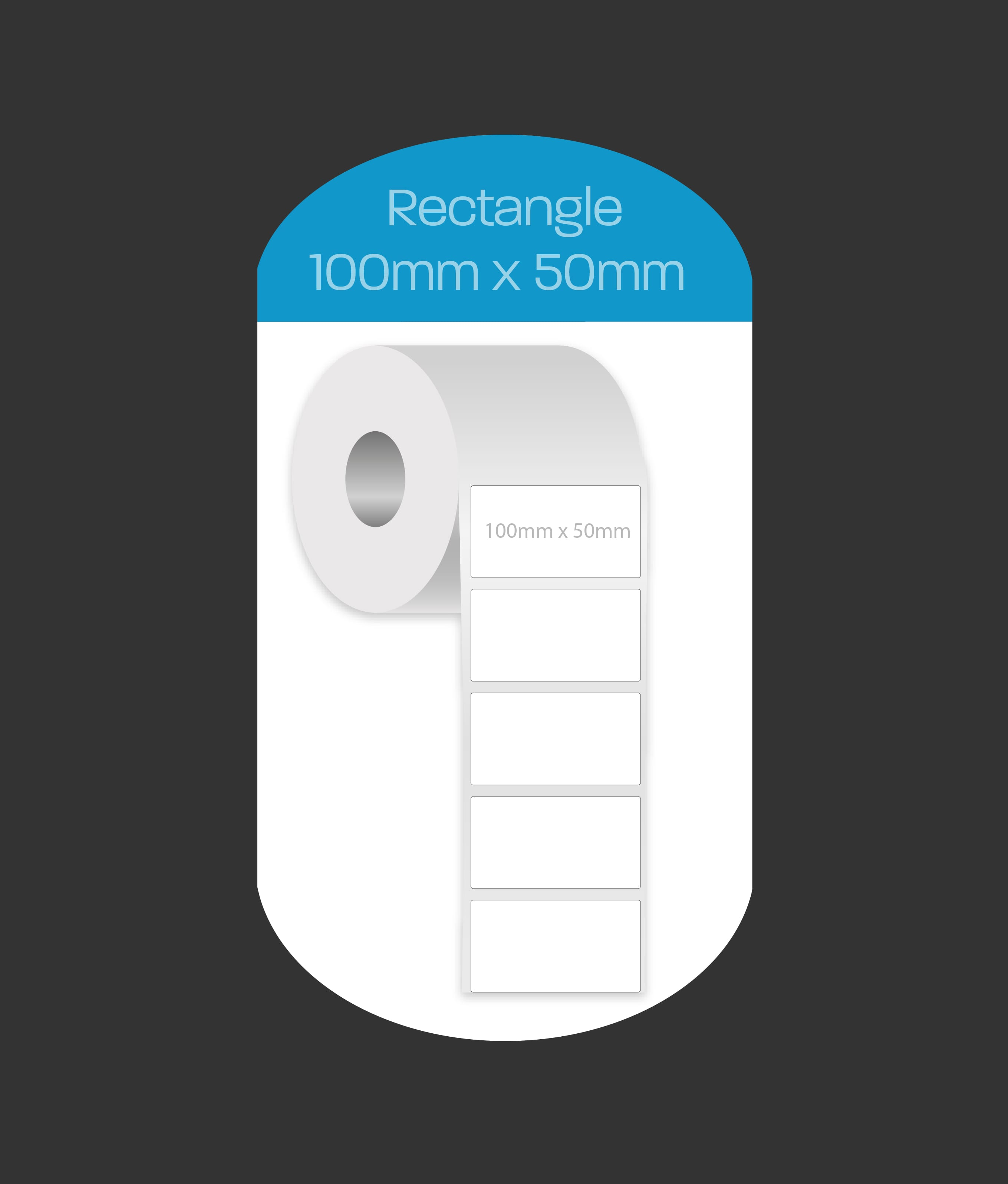 Rectangle 100x50mm labels