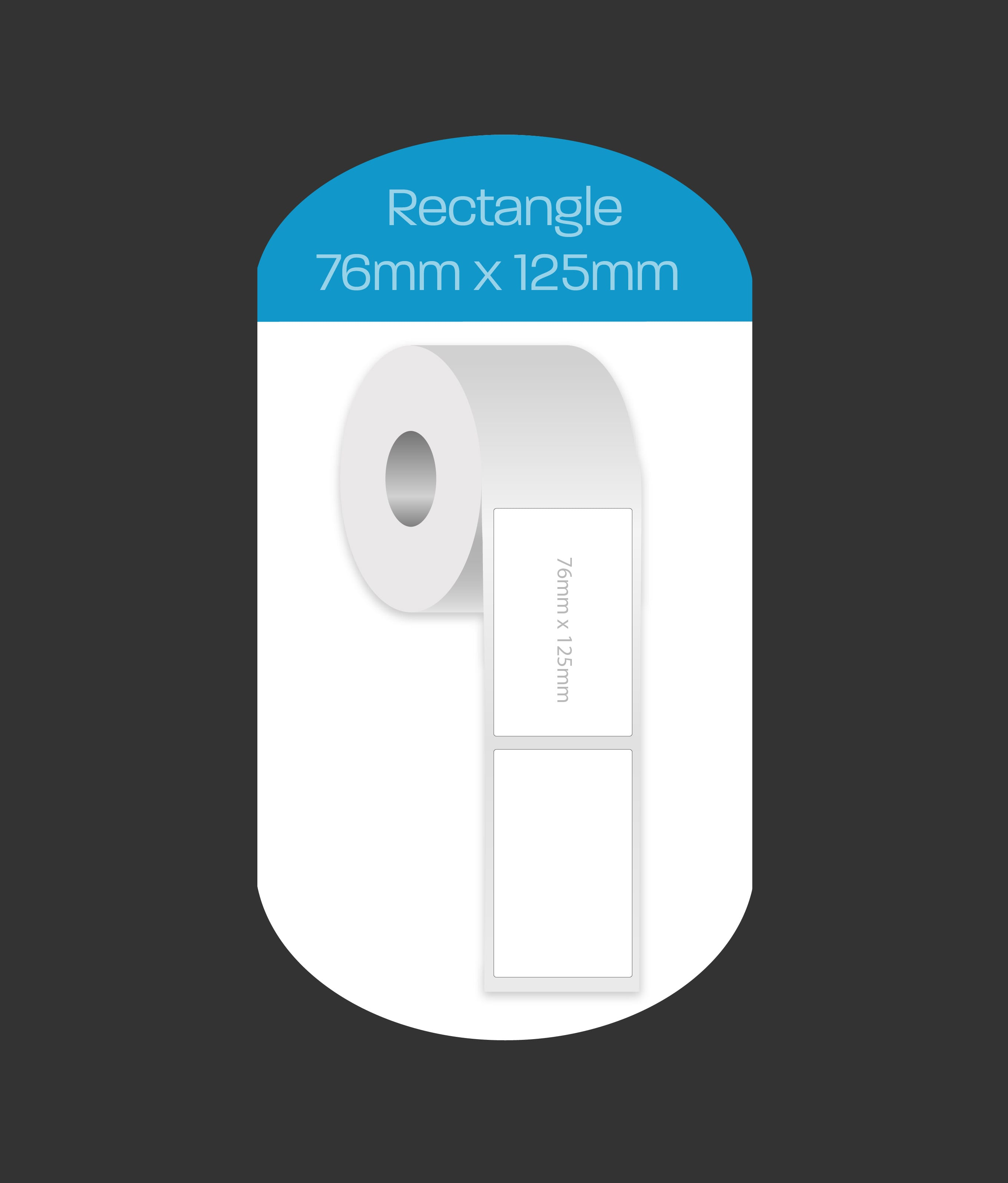 Rectangle 76x125mm labels